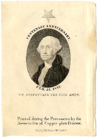 George Washington: Copperplate portrait engraving (1832)