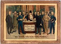 McKinley, Roosevelt, Dewey, et al: Hoffman House Cigars chromo advertising poster