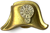 William McKinley: PROTECTION gilt brass chapeau stud