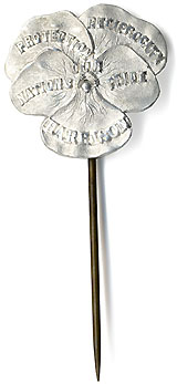 Benjamin Harrison: Scarce OUR NATION'S PRIDE silver poppy badge