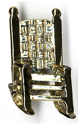 John F. Kennedy: 1964 reelection rocking chair pin