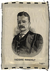Theodore Roosevelt: 1904 dated woven silk portrait