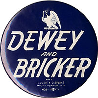 Dewey and Bricker: Large eagle Gogerty logo button