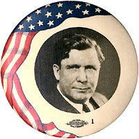 Wendell Willkie: American flag picture button