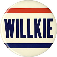 Wendell Willkie: 6-inch RWB name button