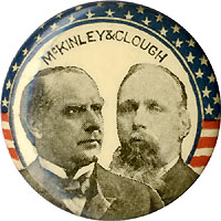 McKinley and Clough: Minnesota coattail jugate pinback