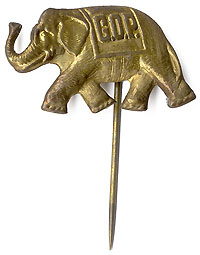 Republican Party: McKinley era elephant pin
