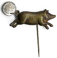 McKinley vs. Bryan: Classic running boar anti Free Silver badge