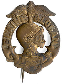 Blaine and Logan: Unlisted plumed knight cast metal badge