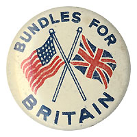 World War II: BUNDLES FOR BRITAIN pinback
