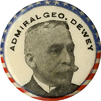 Admiral George Dewey: Flag border picture button