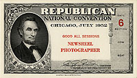 Dwight Eisenhower: 1952 RNC Newsreel Photographer ticket