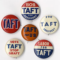 Robert Taft: Six Republican primary buttons (1952)