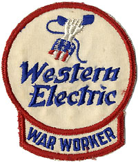World War II home front: Rare Western Electric War Worker uniform badge