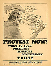 America First Committee, World War II: Rare PROTEST NOW! anti-war handbill