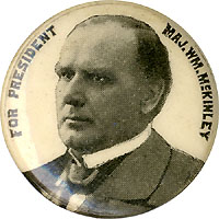 William McKinley: Uncommon FOR PRESIDENT portrait stud