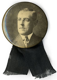 Woodrow Wilson: Memorial photo pinback