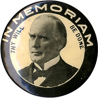 William McKinley: Scarce IN MEMORIAM memorial pinback