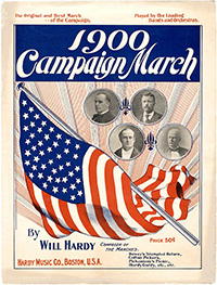 McKinley, Bryan, et al: 1900 CAMPAIGN MARCH sheet music