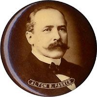 Alton Parker: Sepia photo portrait pinback (1.75