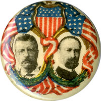 Roosevelt and Fairbanks: Patriotic jugate pinback