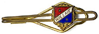 Wendell Willkie: Enamel shield tie clip