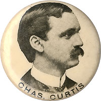Charles Curtis: Early Kansas House or Senate pinback