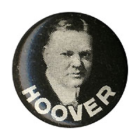 Herbert Hoover: Scarce picture litho button