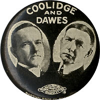 Coolidge and Dawes: Jugate pinback button