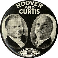 Hoover and Curtis: Jugate pinback button