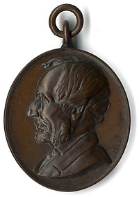 Abraham Lincoln: MARTYR TO LIBERTY memorial fob charm
