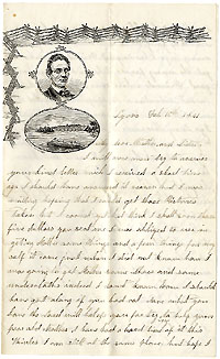 Abraham Lincoln: Campaign letter sheet with eve-of-war content