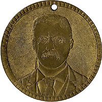 Roosevelt and Fairbanks: 1904 campaign token