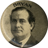 William Jennings Bryan: Uncommon BRYAN Geraghty picture pinback