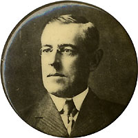 Woodrow Wilson: Photo portrait pinback