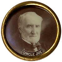 Joseph G. Cannon: Scarce UNCLE JOE Republican hopeful photo pinback