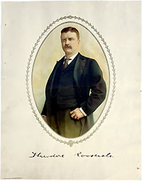 Theodore Roosevelt: Chromolithograph poster from 1904 campaign