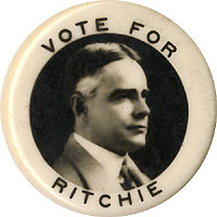 Albert Ritchie: VOTE FOR RITCHIE photo picture pinback (1924)