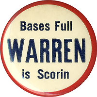 Earl Warren: BASES FULL WARREN IS SCORIN button