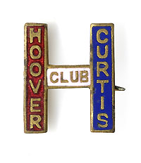 Hoover and Curtis: HOOVER CURTIS CLUB enamel lapel pin