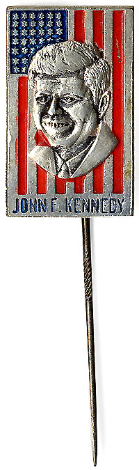 John F. Kennedy: American flag lapel pin