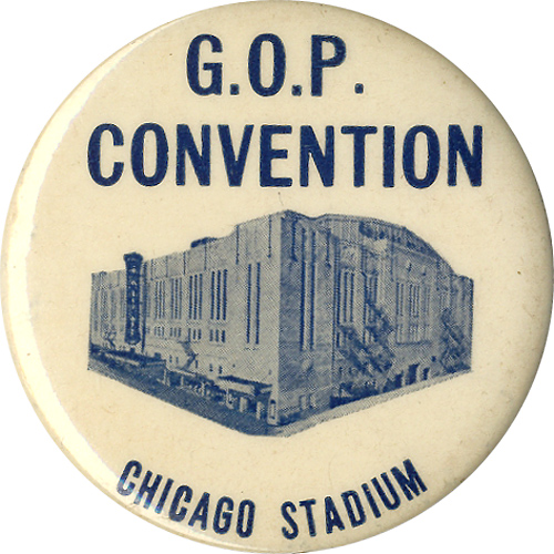Thomas Dewey: G.O.P. CONVENTION souvenir button