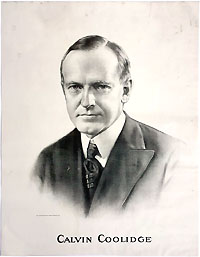 Calvin Coolidge: Very large campaign poster