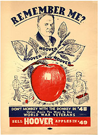 Harry Truman: Rare campaign poster referencing Herbert Hoover