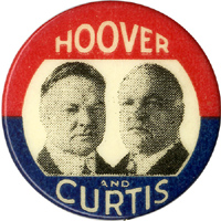 Hoover and Curtis: Rare jugate pinback