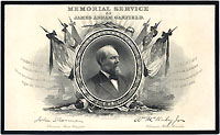 James Garfield: Official Congressional Memorial engraved souvenir