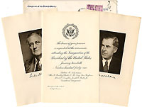 Roosevelt and Wallace: 1941 inauguration invitation package
