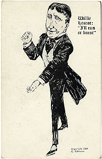 William Randolph Hearst: Eckstone caricature postcard (1908)