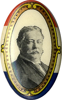 William Howard Taft: Pretty oval celluloid pinback