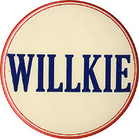 Wendell Willkie: 3-inch name button